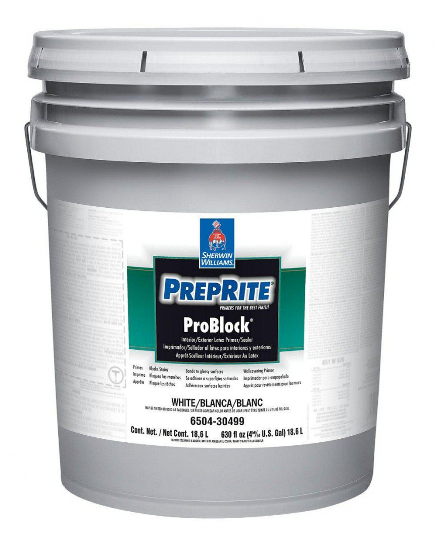 Грунтовка Sherwin Williams PrePrite ProBlock Latex Primer Sealer Int/Ext Блокирующая пятна